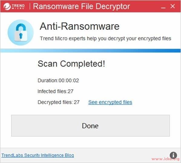 如何下載與使用趨勢科技勒索病毒檔案解密工具